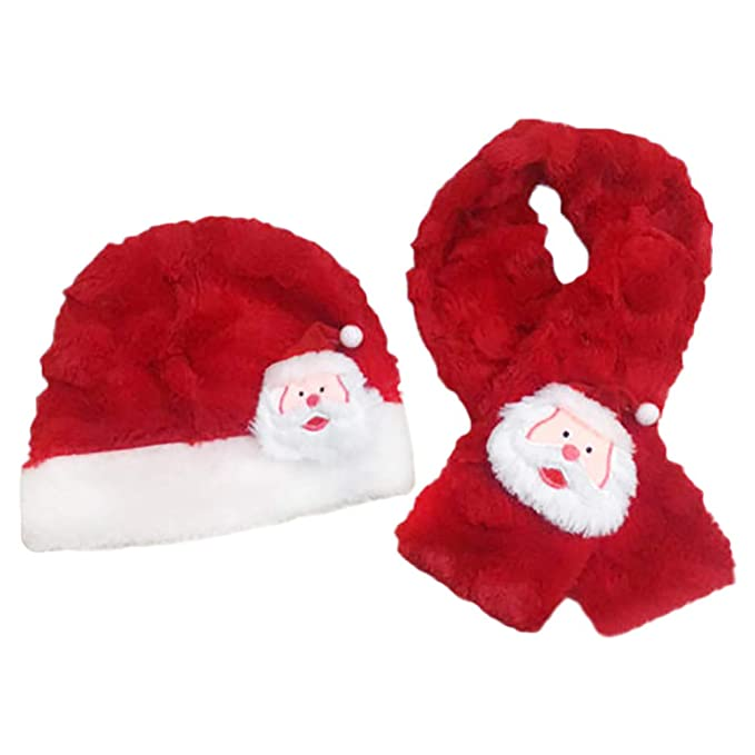 40895c7e7ffcc Amazon.com  Hosaire 1 Set of Hats Scarves Baby Boy Girl Christmas ...