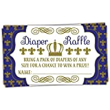 50 Royal Prince Diaper Raffle Tickets | Boy Baby Shower...