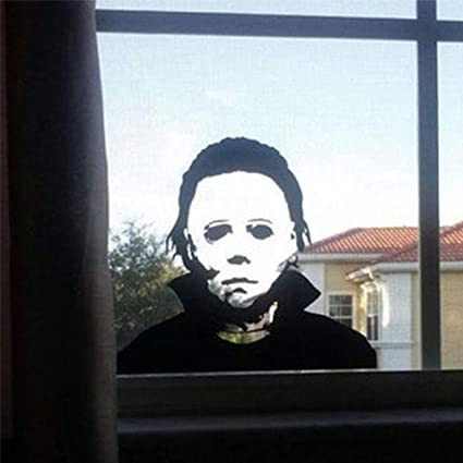 b22effc3e81d Image Unavailable. Image not available for. Color  wonuu Wall Sticker  Michael Myers Horror Window Decals Cars Trucks Vans Laptops Decoration