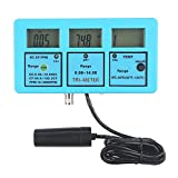 (US) QIYAT CPTCAM 5-in-1 pH EC CF TDS Temp(PPM) Multiparameter Water Quality Test Monitor Calibration Tool for Laboratory Hydroponics Pool Aquarium Water Treatment, LCD Backlight(pH-117)