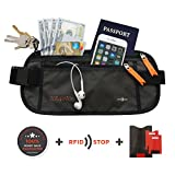 Travel Money Belt - RFID-Blocking Waist Wallet. Hide & Protect Your Phone, Passport & Credit Cards In This Comfortable, Sleek, Secret Fanny Pack... Perfect For Running, Hiking & Vacation Traveling.