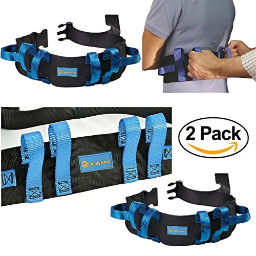 Gait Belt Transfer Belt 2 Pack with Quick Release Lifts Medical Safety Belts for Elderly to Lift and Transfer Physical Therapy Belt Straps and Elderly Care Lifts
