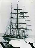 Vintage photo of Sail Powered training Ship of the German Navy, the39;Gorch Fock39; on its 68th foreign trip.