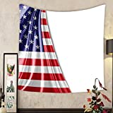 Lee S. Jones Custom tapestry america flag of silk with copyspace for your text or images and white background