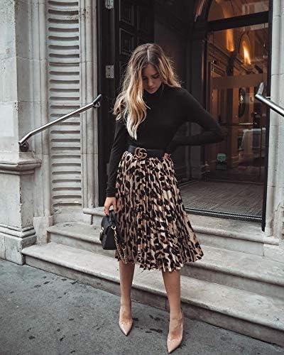 leopard print Women/'s elastic skirt by Mesketa short cut eggplant