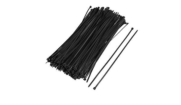 Amazon.com: eDealMax Sujetador Organizador del Cable de alambre de la Correa/Tie, 4 x 250 mm, Negro, 250 Pieza: Electronics
