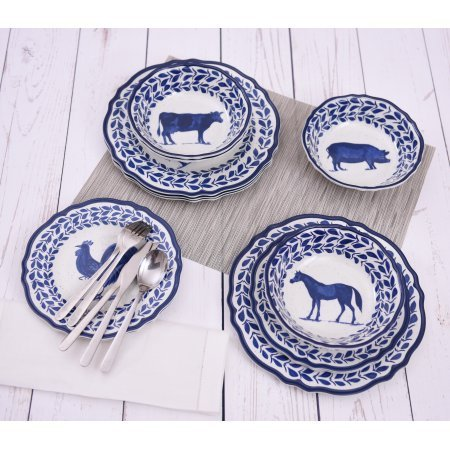Mainstays Country Classic 12 Piece Dinnerware Set