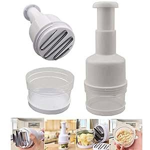 Pressing Vegetable Garlic Onion Food Kitchen Slicer Peeler Chopper Cutter Dicer