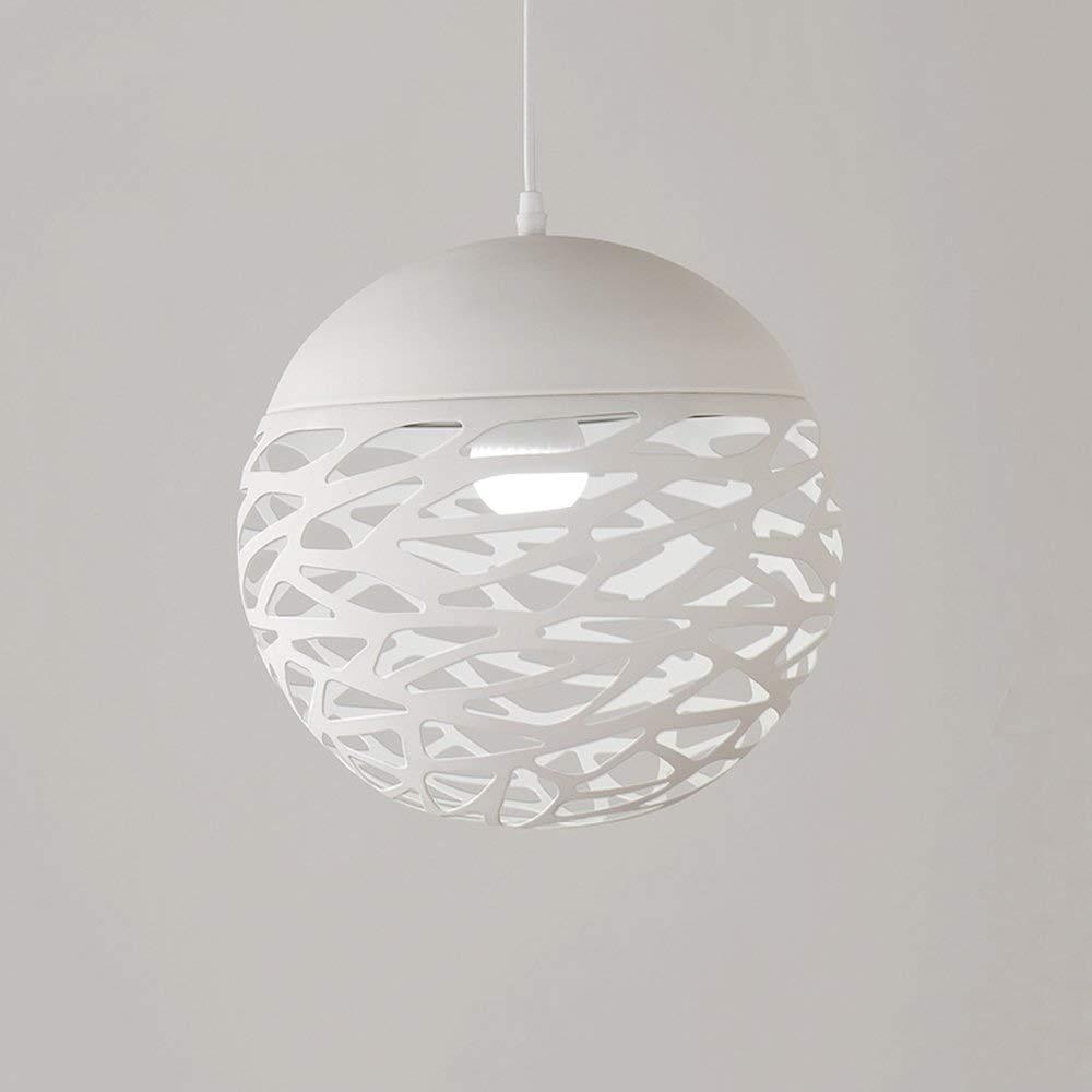 Weiß 30CM WangLei LED-Kronleuchter in Eisen, European Small-Dekoration-Beleuchtung Deckenleuchte Moderne minimalistische Wohnzimmer Study Pendelleuchte Kronleuchter (Farbe   Weiß, Größe   30CM)