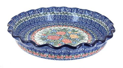 Rose Stoneware (Polish Pottery Crimson Roses Pie Plate)