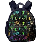 Colorful Bow And Arrow Archery Clipart Toddler Kids Backpack Preschool Backpack Navy Mini Backpack
