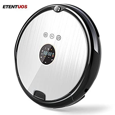 ET Robot Robotic Vacuum Cleaner and Mop with Automatic Recharging and Auto-Detection Timing work R8-A
