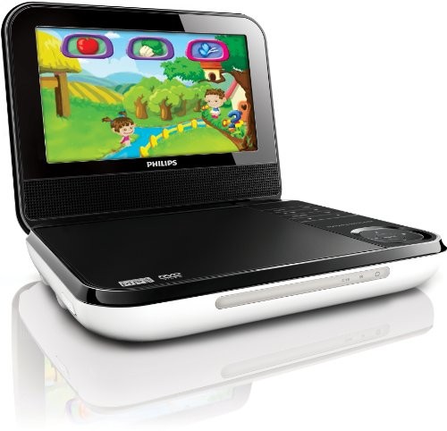 Philips PD703/37 7-Inch LCD Portable DVD Player with Wireless Game Controller, Black