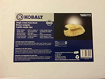 Single Crows Foot Brush -For Applying Texture Stucco to Masonry- Drywall-plaster from Kobalt