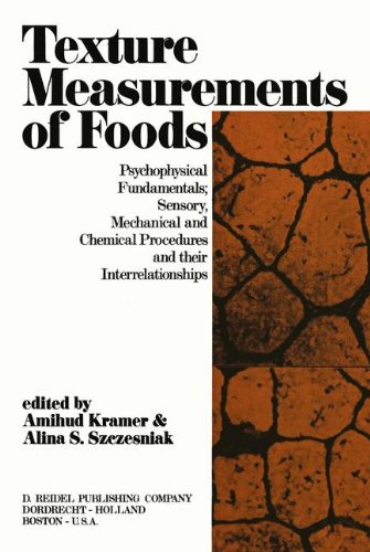 Texture Measurement of Foods: Psychophysical Fundamentals; Sensory, Mechanical, and Chemical Procedures, and their interrelationships by Springer