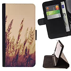 DEVIL CASE - FOR Sony Xperia Z1 L39 - Nature Crops Field - Style PU Leather Case Wallet Flip Stand Flap Closure Cover