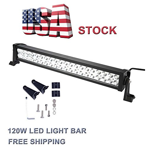 Topcarlight 24inch 120w LED Work Light Bar Flood/spot Combo Beam Lights 4wd SUV UTE Off Road Car Boat Lamps (Leds Lights For Cars compare prices)