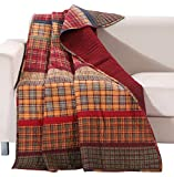Barefoot Bungalow Gold Rush Coverlet Quilted Throw