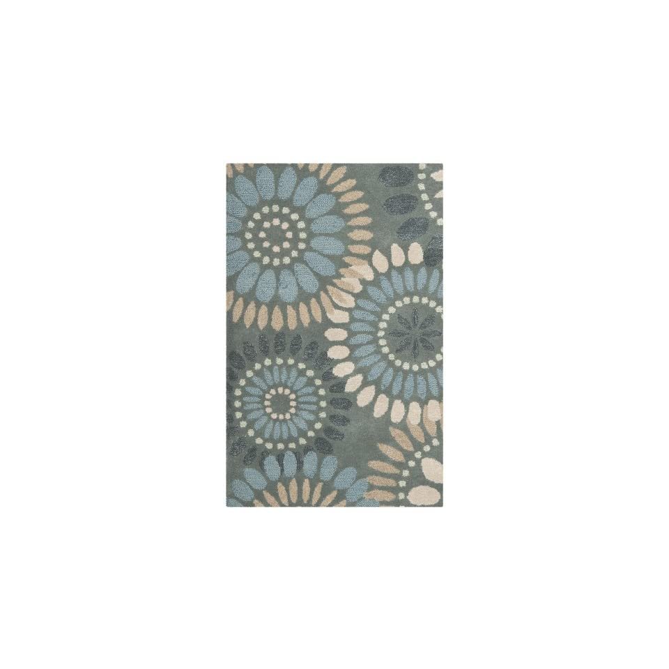 Safavieh Jardin Collection JAR455A Handmade Grey and Blue Premium Wool Area Rug (2 x 3)