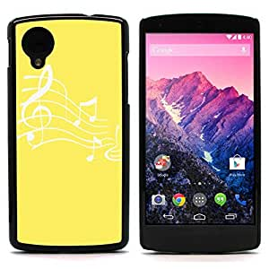 Graphic4You Music Note Pattern Design Hard Case Cover for LG Nexus 5 (Yellow)