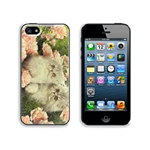 Persian Kittens with Pink Roses Apple iPhone 5 / 5S Snap Cover Case Premium Aluminium Customized Made to Order Support Ready 5 inch (126mm) x 2 3/8 inch (61mm) x 3/8 inch (10mm) Liil iPhone_5 5S Professional Cases Touch Accessories Graphic Covers Designed Model Folio Sleeve HD Template Wallpaper Photo Jacket Wifi 16gb 32gb 64gb Luxury Protector Wireless Cellphone Cell Phone