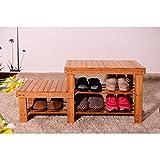 energi8_loo Kids Room Bamboo Shoes Storage Rack Bench Shelf Boot Organizer Furniture Decor