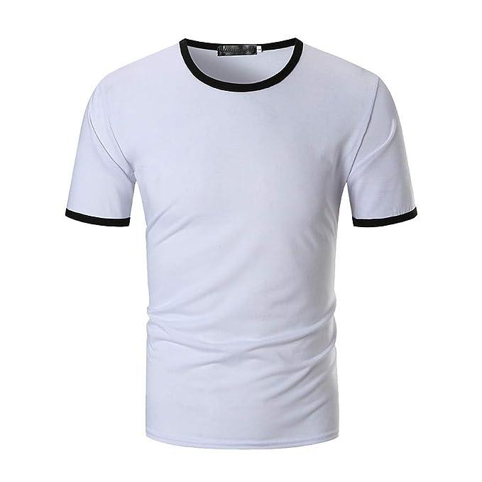 Maglietta Uomo Manica Corta VJGOAL Moto T-Shirt Cotone Stampa Particolare Termica Corsa Slim Large Taglie Forti Bianca Felpa Uomo con Cappuccio Divertenti Vintage Semplice Palestra Aderente Offerta