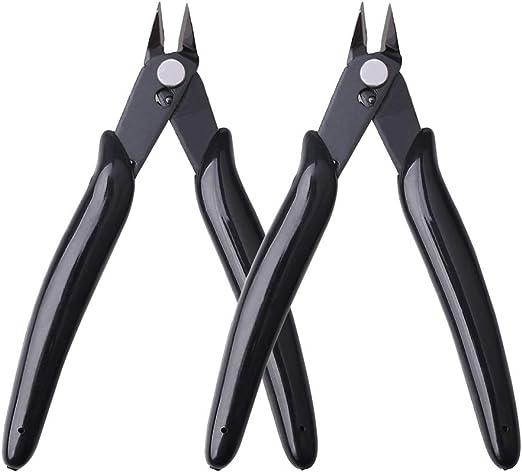 Noir Bijoux Yuanzi 2 Pcs Pinces Coupantes Cisaille Pr/écision Diagonale pour C/âble /Électrique Pinces Coupantes de C/ôt/é