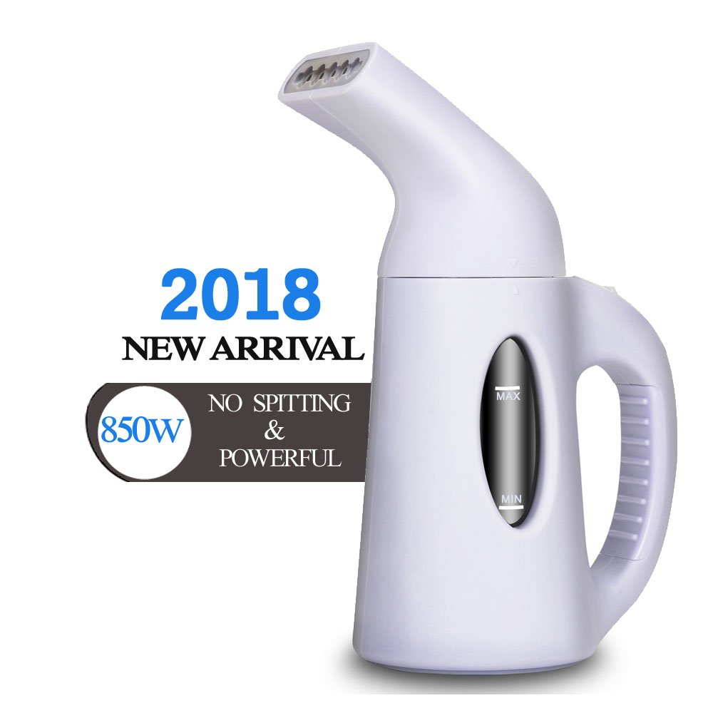 misokoo Steamer For Clothes, Clothes Steamer,Portable Steamer For Clothes Portable Garment Steamer 850 Watt Powerful Clothes Steamer Wrinkle Remover. Reject Spit Out Water Compact-Travel Steamer