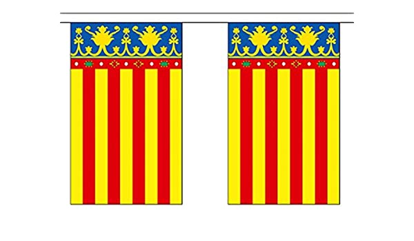 España Valencia Poliéster Bandera Banderín 9m (30) Banderines Con ...