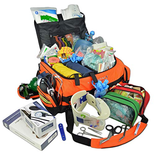 Lightning X Jumbo Medic First Responder EMT Trauma Bag Stocked First Aid Trauma Fill Kit D ()