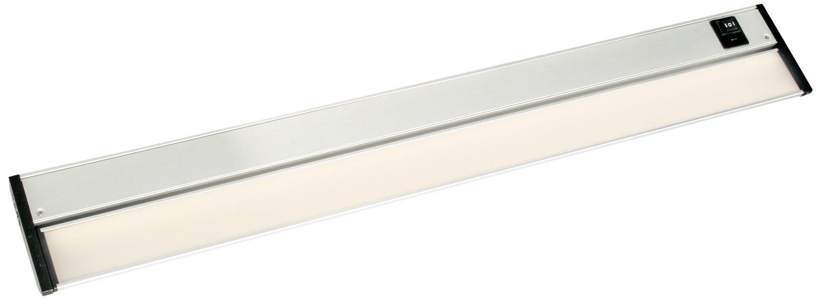 DALS Lighting 9024CC 36'' Linear Adjustable Color LED Under Cabinet Strip Light, Satin Nickel