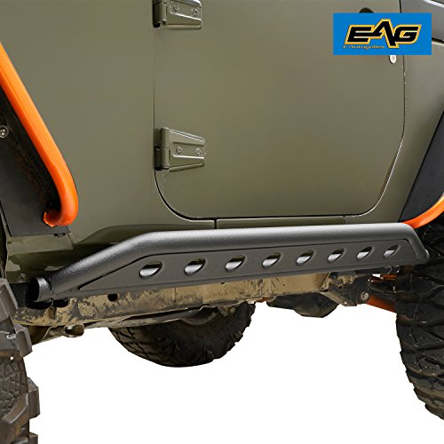 EAG Tubular Side Armor Rocker Guard Rock Sliders for Jeep Wrangler JK 2 Door