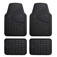 Floor mats are made to protect our cars. But who says they can't have a dual purpose? With an added pop of color these mats will not only keep ya covered, but bring a little personality to your car. Heavy duty rubber means these mats are made...