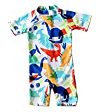 Baby Toddler Boys Swimsuit One Piece Zipper Bathing
