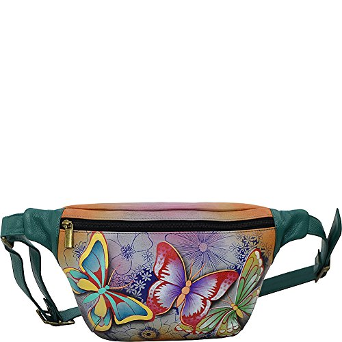 Anuschka Women's Hand Painted Leather Fanny Pack, Bpd-Butterfly Paradise by ANUSCHKA