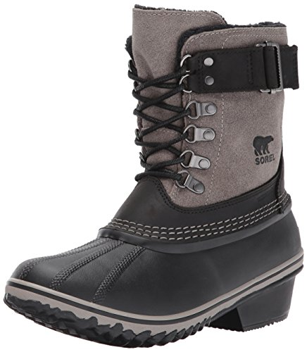 Sorel Women's Winter Fancy Lace II-W Snow Boot, Black, Kettle, 5.5 B US by SOREL