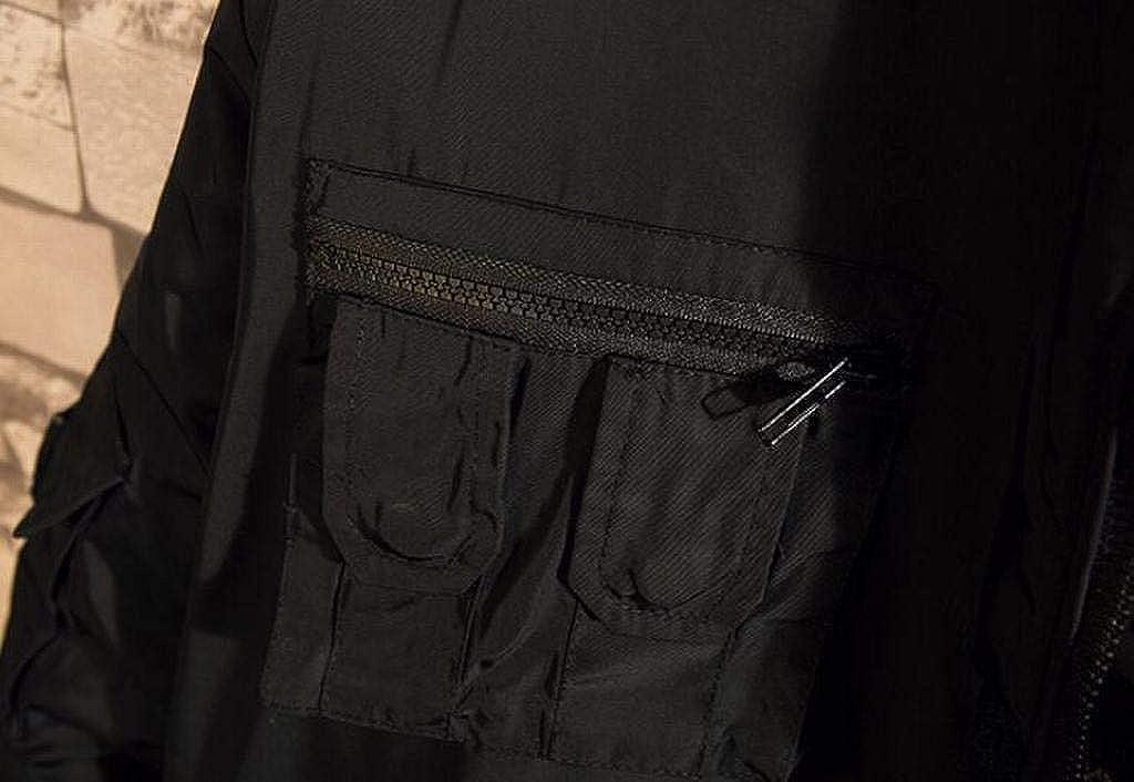 WAWAYA Mens Thicken Winter Relaxed Fit Multi-Pockets Hooded Down Coat Jacket Outerwear