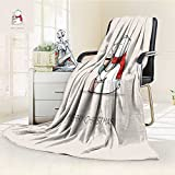 polar edge boots - Luxury Collection Ultra Soft Plush Fleece Lightweight cute card with hand drawn polar bear with scarf boots and hot drink christmas All-Season Throw/Bed Blanket(90