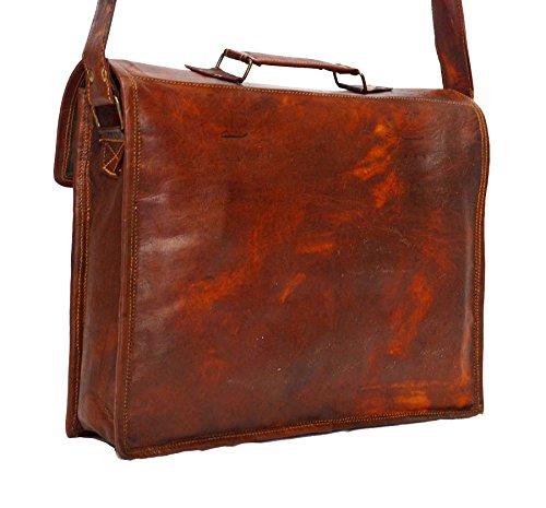HIDE 1858 TM Style Real Leather Handmade Messenger Bag/Breifcase