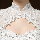 Clover Bridal Vintage High Collar Pearl Wedding