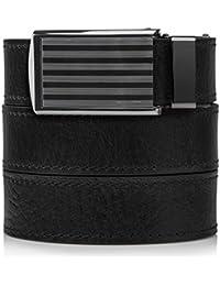 SlideBelts Men's Premium Top Grain Signature Leather Ratchet Belt