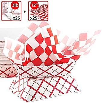 Amazon.com: Bandeja de comida de papel resistente y ...