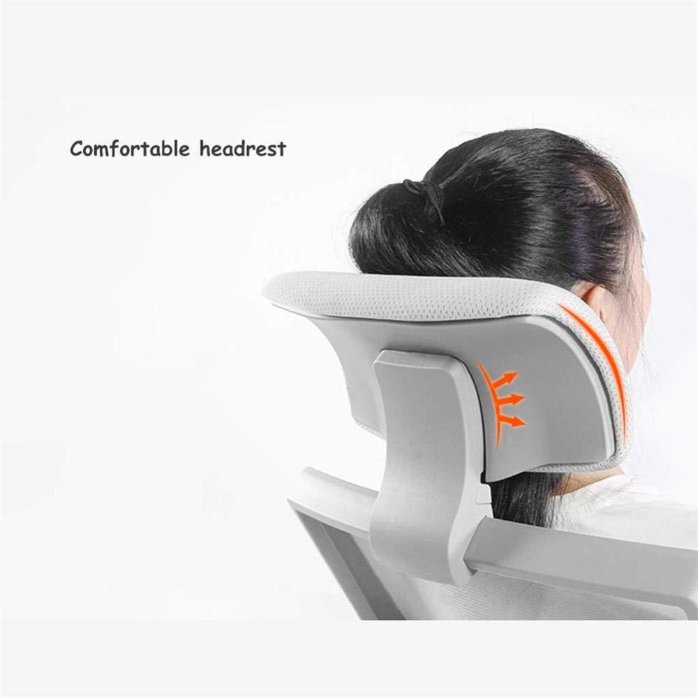 JIEER-C Hög rygg mesh kontorsstol, justerbar svängbar verkställande stol, med teleskopiskt benstöd, höjdjustering, högt bärande gravitation-grå svart