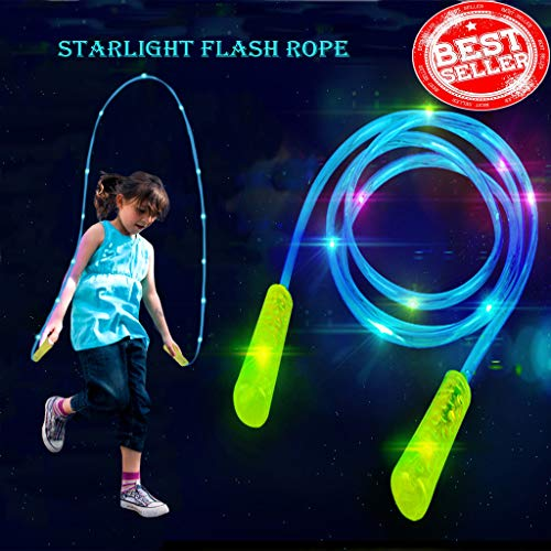 Flashing Floating -  Glowing jump rope Clearance , Light Up Jump Rope Flashing Color Change Skipping Rope Colorful Light Fun Toy by Little Story