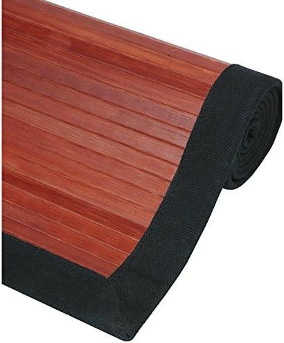Oriental Furniture Bamboo Rug – Mahogany – 2 x 3