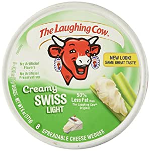 Laughing Cow Spreadable Cheese Wedges Light, 8 pieces