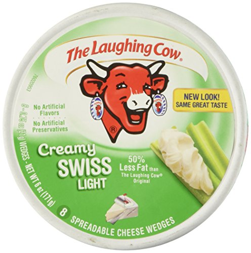 Laughing Cow Spreadable Cheese Wedges Light, 8 pieces (Cheese Light)
