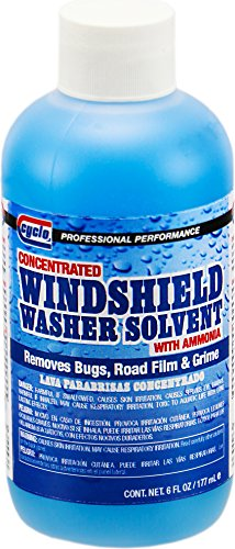 Cyclo C206 6 Fluid Ounce, (Pack of 24) Concentrated Windshield Washer Solvent with Ammonia, 24 Pack