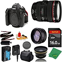 Great Value Bundle for 6D DSLR – 24-105MM L + 16GB Memory + Wide Angle + Telephoto Lens + Case